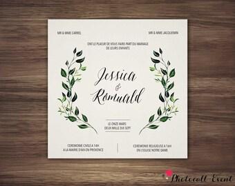 Wedding announcement - model laurels