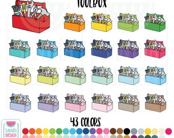 Toolbox Clipart. Personal and comercial use.