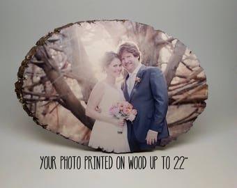 Rustic Wedding, Country Wedding Decor, Custom Wedding Sign, Wedding Photo on Wood, Shabby Chic Wedding Decorations, Vintage Wedding