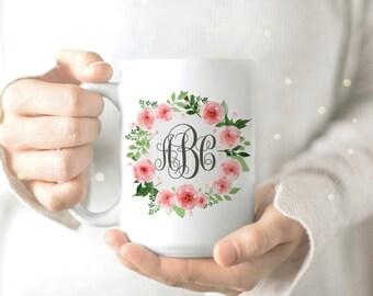 Monogram Mug Gift - Monogramed Mug Gift - Wife Mug - Valentine Gift for Girlfriend - Girlfriend Mug - Gift for Girlfriend