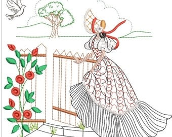 SOUTHERN BELLE MACHINE embroidery download 5 diff sizes (3.4 x3.4  4x4 5x5  6x6 7x7)