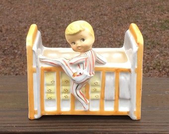 Midcentury Toddler Boy Crib Planter Nursery