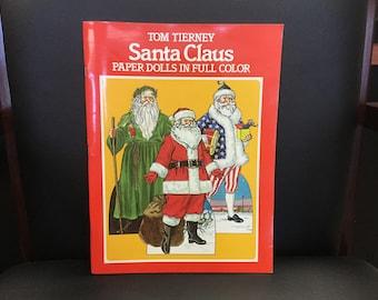Vintage Tom Tierney Santa Claus Paper Dolls in Full Color