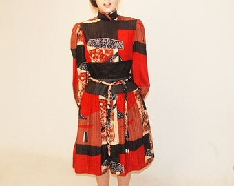 Only One IN THE WORLD /kimono inspired / quilted dress
