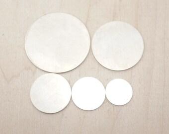 Sterling Silver Stamping Blanks - Sterling Silver Blank Disc - Stamping Disc - Sterling Silver Stamping Disc - Sterling Silver Supplies