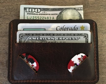 Buffalo-Bison Leather Guitar Pick Wallet