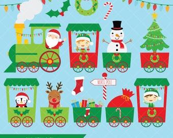 Christmas Train Clipart / Santa Polar Express Clip Art