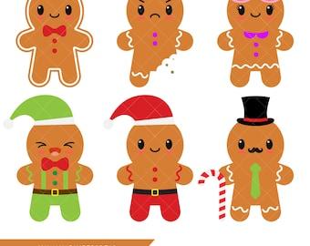 Clip Art Gingerbread Clipart gingerbread clipart etsy kawaii man cookies