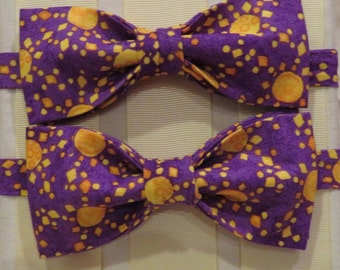 Sun in Purple Sky Bow Tie