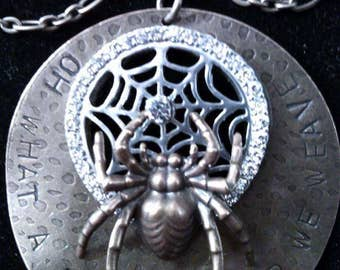 Oh What A Tangled Web We Weave Necklace