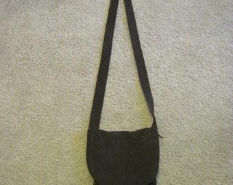 Handmade suede purse