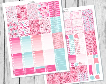 Valentines Planner Sticker Happy Planner Printable / Happy Planner Stickers / Printable Planner Stickers / Valentines Planner Stickers