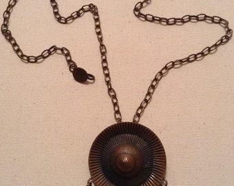 Vintage Copper Tribal Design Necklace