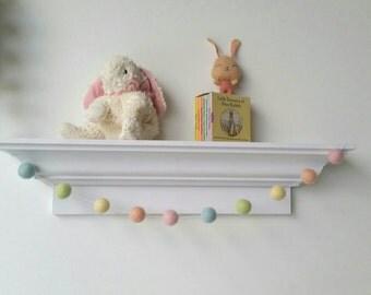 Pom Pom Easter Garland : Pastel Rainbow Garland