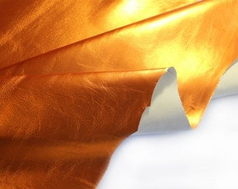 Genuine Metallic Gold Leather for back side handmade jewelry