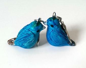 Bird Earrings, Cute Earrings, Animal jewelry, Bird lover gift