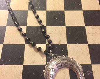 Squash Blossom Pendant on Rosary Chain