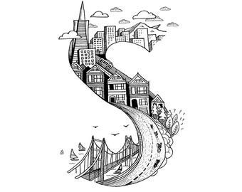 San Francisco Dreaming Illustrated Print