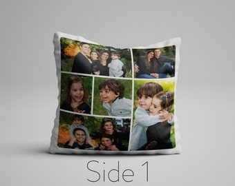 Custom Photo Collage On A Pillow, Custom Photo Gift, Personalized Pillow, Customizable Double Sided Pillow, Photo Pillow Gift, Photo Present