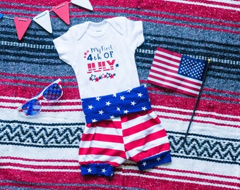 First Fourth of July Outfit, My First 4th of July, First 4th of July Outfit, Baby's first 4th, Baby's first fourth, Fourth of July Outfit