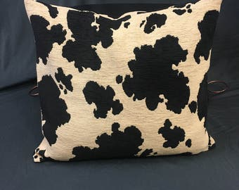 Cow Print Pillow, Pillow Cover, 14 x 14 Pillow Cover, Cushion Cover, Accent Pillow, Throw Pillow, Envelope Cover, Pony Print, Animal Print