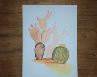 Cacti Cluster - Watercolor print
