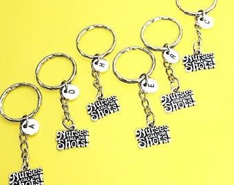 Nurse Keychain - Set of 6, Gift for Nurse, RN Keychain, 6 Friends, Nurse Graduation, LPN, RN,Custom Nurse Keychain, Nurses Call The Shots