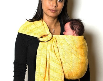 Baby carrier woven wrap multipurpose mexican rebozo sling  w/ user's guide