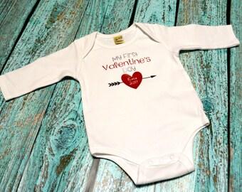 1st Valentines Baby 1st Valentine Onesie Girls 1st Valentines Cute Valentine shirt 1st valentines shirt babys 1st valentines girls shirt