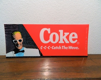 1986 Max Headroom C-C-C-Catch The Wave Coke Vending Machine Insert