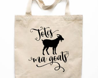 Funny Tote Bag, Totes Ma Goats Tote Bag, Farmers Market Tote Bag, Canvas Market Bag, Shopping Bag, Reusable Grocery Bag 0206
