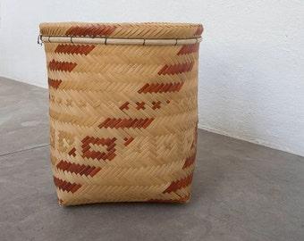 Urucutinga Basket / Handmade Woven Basket / Ethnic Basket / Primitive Decor