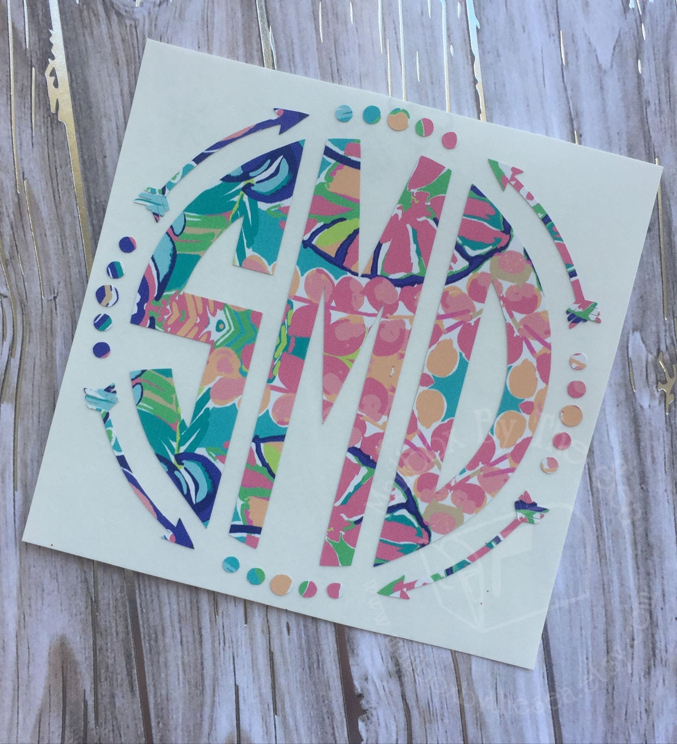 Car sticker maker philippines - Lilly Pulitzer Inspired Arrow Monogram Decal Yeti Decal Lilly Car Decal Lilly Monogram Decal Lilly Sticker Car Decal Preppy