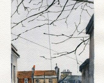 5x7 Original Watercolor Painting