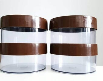 Danish Erik Kold mid century plastic storage container set, kitchen canisters, Scandinavian design