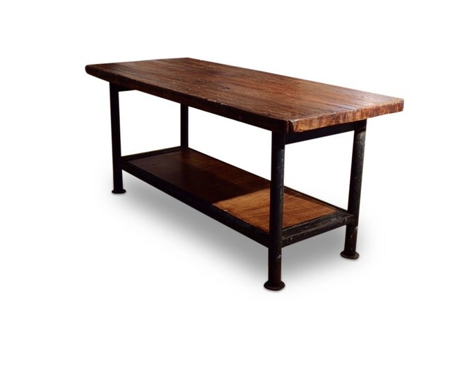 Steel Base Table w/ Wood Worktop