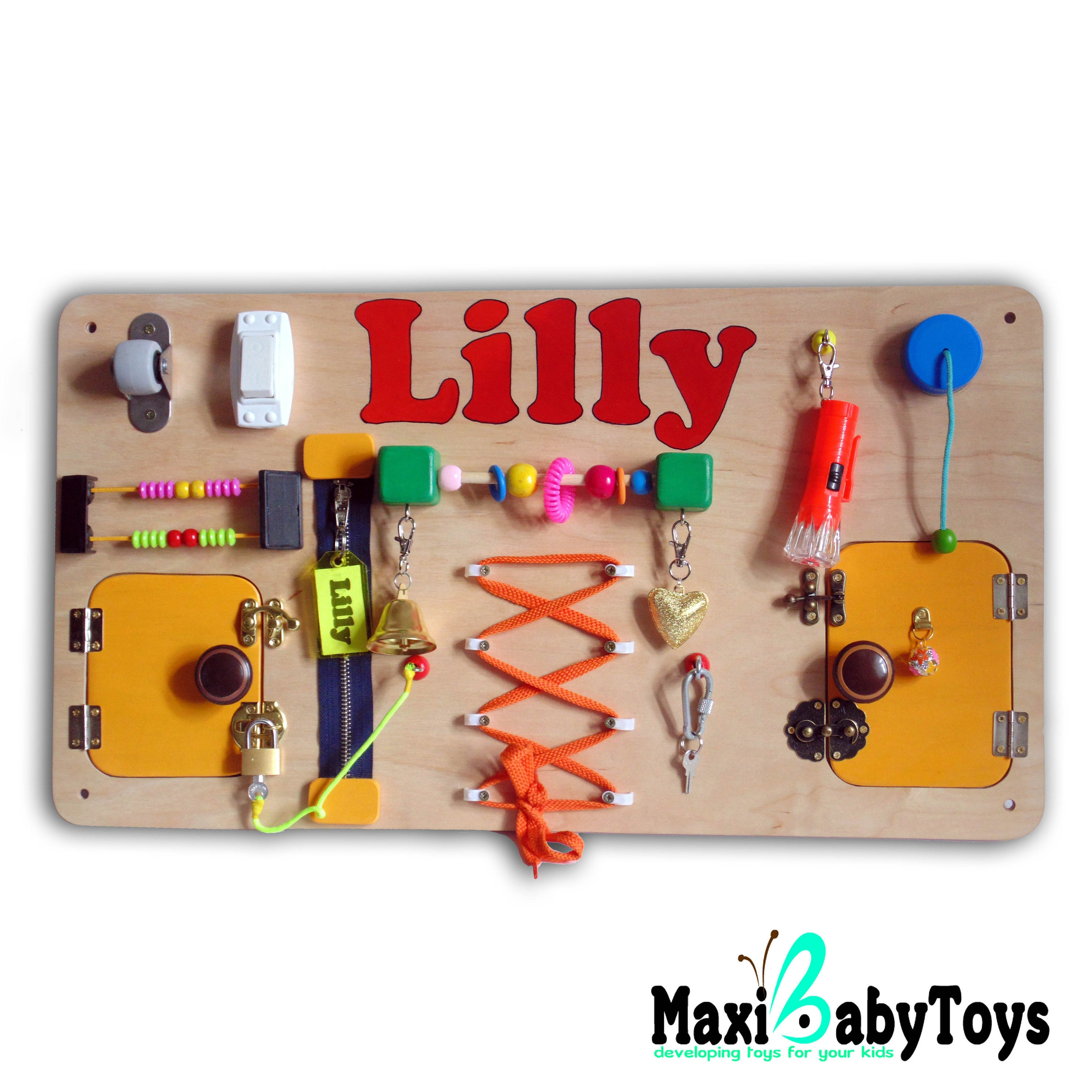 Personalized toy for baby girl t Busy Board for girl