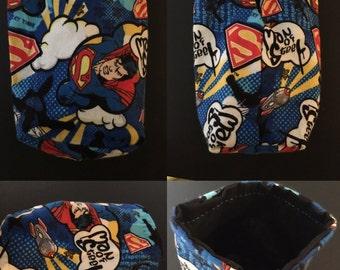 Superman Dice bag, Man of Steel, DC Comics, DC Universe, drawstring bag, coin purse, pouch, Clark Kent