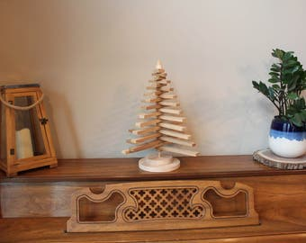 Wood Slat Tree Rotating Slat Tree Rustic Home Decor