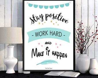 Poster quote, Inspirational quote, Motivational print, Typography quote, Positive quote, Inspirational print, Wall art decor, Printable wall
