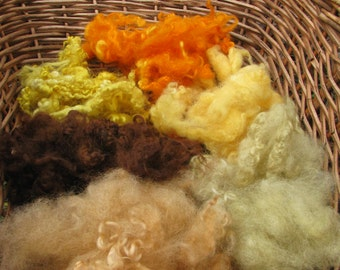 Plant Dyed Wool. Needle Felting Wool. Naturally Dyed Wool 3oz