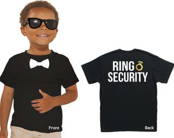 Wedding Ring Bearer, Ring Security T-Shirt