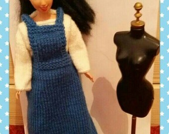 Barbie Dolls outfit jumper and dress(43)