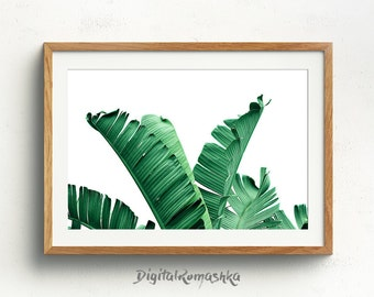 Banana Leaf Print, Palm Poster, Botanical Print, Palm Leaf Print, Plant Print, Scandinavian Print, Green Leaves Art, Palm Print, Nature Art