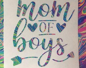 Mom of Boys/Girls Yeti/Car/Tumbler/Laptop Lilly Pulitzer Inspired Decal