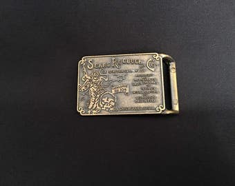 Belt buckle Sears and Roebuck old fashioned retro vintage 1970s