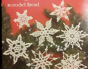 more Snowflakes in crochet thread ~ American School of Needlework ~ Book 1038 ~ Vintage 1985 ~ by Mary Thomas