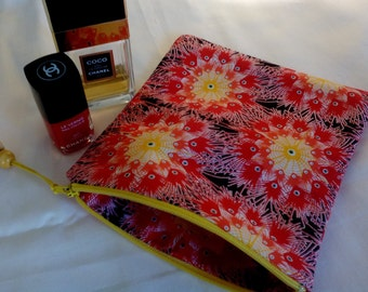 Make up, cosmetic bag, fabric,zippered,
