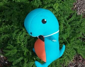 Blue Dinosaur Plushie with Bowtie