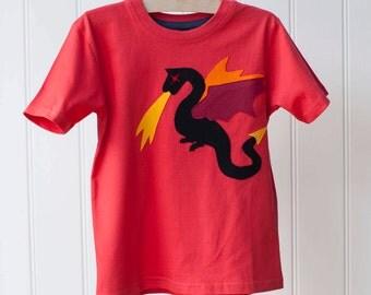 Legendary Dragon Top - Kids Dragon Shirt - Dragon T-shirt - Fiery Dragon - Game of Thrones - Dragons - Kids Clothing - Gifts - Great Dragon